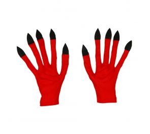 Punaiset, pitkäkyntiset kauhuhanskat