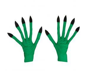 Vihreät, pitkäkyntiset kauhuhanskat