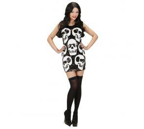 Pääkallo mekko halloweeniin tai merirosvolle