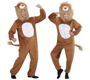 Ruskea Leijona-naamiaisasu aikuisille