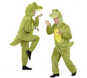 Vihreä krokotiili-asu aikuisille
