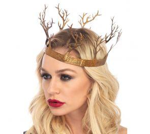 Metsän kruunu haltialle, keijulle tai Game Of Thrones-teemaan