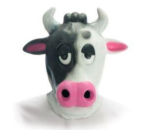 Hellyyttävä lehmä-naamari