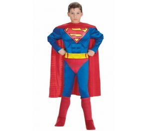 Superman muskeleilla -naamiaisasu lapsille