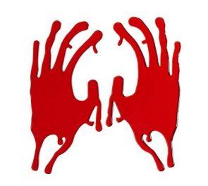 Geelitarra veriset kädenjäljet