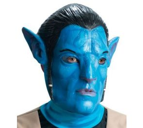 Avatar-elokuvassa esiintyvän Jake Sully -hahmon upea lateksinaamari