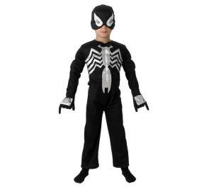 Spiderman-asu lapsille, musta