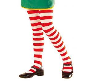 Puna-valkoraidalliset sukkahousut lapsille