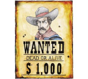 WANTED-juliste