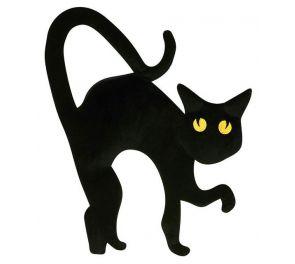 Musta Kissa -käsilaukku