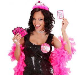 Pink party -tehtäväpakka polttareihin ja baari-iltoihin