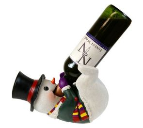 Suloinen Snowman-viinipulloteline