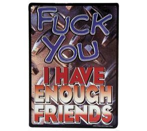 I Have Enough Friends -peltikyltti