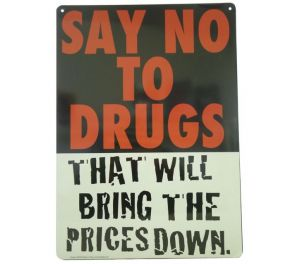 Say no to Drugs -peltikyltti