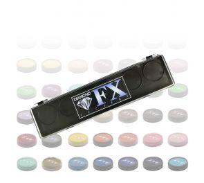 Diamond FX Face & Body Paint - omavalintapaletti, 6 väriä