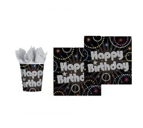 Happy Birthday -kattaustarvikkeet