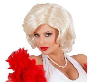 Vaalea peruukki Marilyn Monroelle ja muille megatähdille