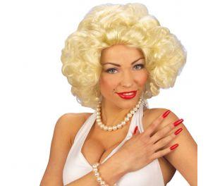 Kiharainen Marilyn-peruukki