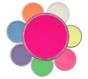 Erikoistehosteisiin tarkoitetut UV-aktiiviset värit useassa eri sävyssä