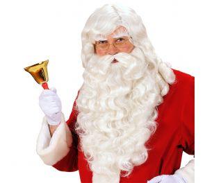Joulupukin ammattiparta- ja peruukkisetti