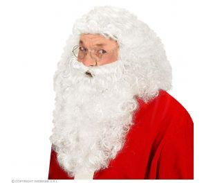 Muhkea parta- ja peruukkisetti joulupukille