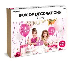 Prinsessa-teemainen somistesetti syntymäpäiväjuhlien koristeluun