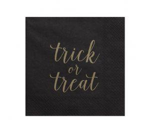 Mustat lautasliinat kultaisella tekstillä halloween-juhliin