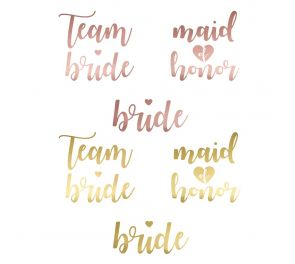Team Bride -tatuoinnit