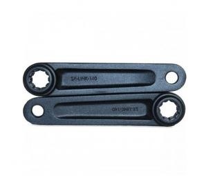 Mustat yksipyöräisen alumiinikammet, 2 kpl