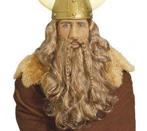 Viikinki-peruukki ja parta