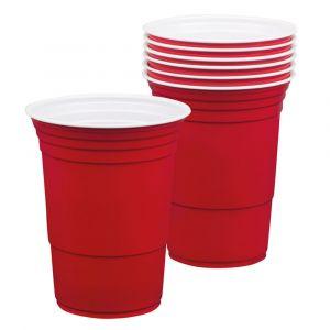 Red Cups -punaiset mukit, 6 kpl