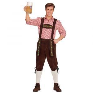 Ruskeat Oktoberfest-housut aikuisille