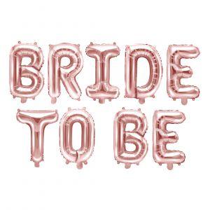 Ruusukultainen Bride to be-foliopallosetti