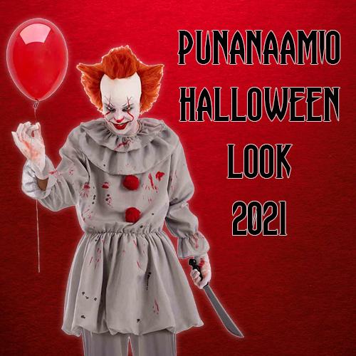 Punanaamio Halloween Look 2021