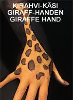 Kirahvi-käsi • Giraff-handen • Giraffe hand