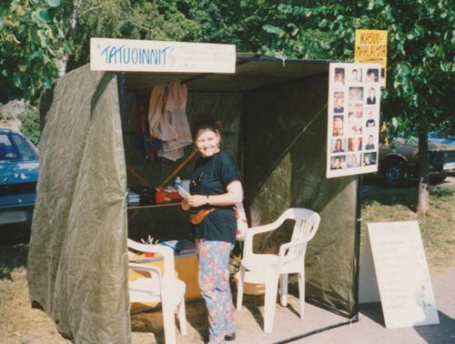 Sari Luoma ja Punanaamion alkutaival vuonna 1993