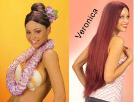 Veronica-peruukki, paljon eri värejä